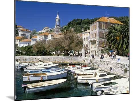 The Tiny Inner Harbour, Hvar Town, Croatia-Michael Short-Mounted Photographic Print