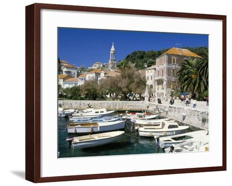 The Tiny Inner Harbour, Hvar Town, Croatia-Michael Short-Framed Art Print