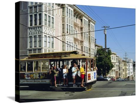 Cable Car on Nob Hill, San Francisco, California, USA-Fraser Hall-Stretched Canvas Print