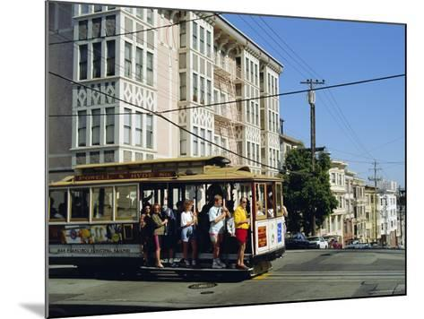 Cable Car on Nob Hill, San Francisco, California, USA-Fraser Hall-Mounted Photographic Print