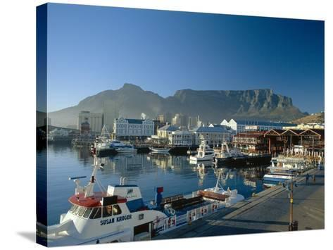 The V & A Waterfront and Table Mountain Cape Town, Cape Province, South Africa-Fraser Hall-Stretched Canvas Print