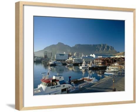 The V & A Waterfront and Table Mountain Cape Town, Cape Province, South Africa-Fraser Hall-Framed Art Print