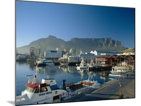 The V & A Waterfront and Table Mountain Cape Town, Cape Province, South Africa-Fraser Hall-Mounted Photographic Print