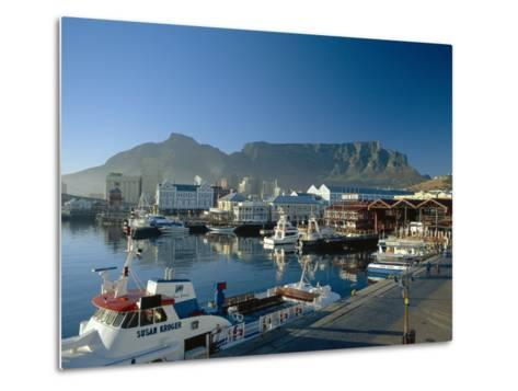 The V & A Waterfront and Table Mountain Cape Town, Cape Province, South Africa-Fraser Hall-Metal Print
