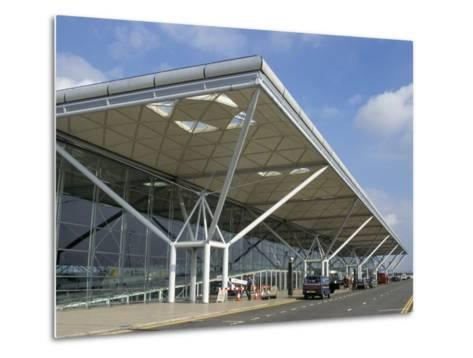 Stansted Airport Terminal, Stansted, Essex, England, United Kingdom-Fraser Hall-Metal Print