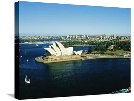 Sydney Opera House and Harbour, Sydney, New South Wales, Australia-Fraser Hall-Stretched Canvas Print