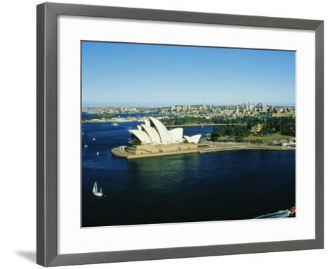 Sydney Opera House and Harbour, Sydney, New South Wales, Australia-Fraser Hall-Framed Art Print