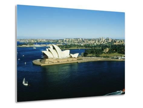 Sydney Opera House and Harbour, Sydney, New South Wales, Australia-Fraser Hall-Metal Print
