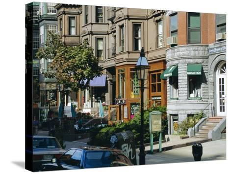 Newbury Street, Boston's Premier Shopping Street, Back Bay, Boston, Massachusetts, USA-Fraser Hall-Stretched Canvas Print