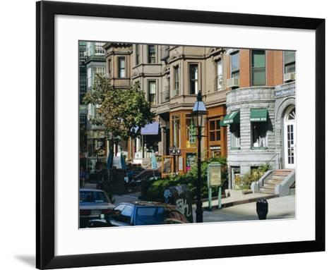 Newbury Street, Boston's Premier Shopping Street, Back Bay, Boston, Massachusetts, USA-Fraser Hall-Framed Art Print