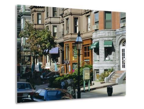 Newbury Street, Boston's Premier Shopping Street, Back Bay, Boston, Massachusetts, USA-Fraser Hall-Metal Print