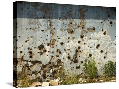 War Damaged Building, Sarajevo, Bosnia, Bosnia-Herzegovina-Graham Lawrence-Stretched Canvas Print