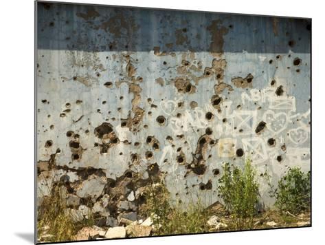 War Damaged Building, Sarajevo, Bosnia, Bosnia-Herzegovina-Graham Lawrence-Mounted Photographic Print