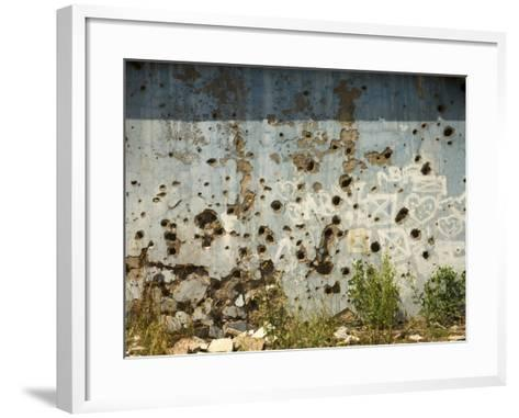 War Damaged Building, Sarajevo, Bosnia, Bosnia-Herzegovina-Graham Lawrence-Framed Art Print