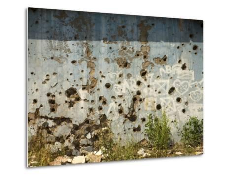 War Damaged Building, Sarajevo, Bosnia, Bosnia-Herzegovina-Graham Lawrence-Metal Print