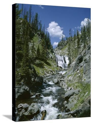 Rapids, Yellowstone National Park, Unesco World Heritage Site, Wyoming, USA-Jane O'callaghan-Stretched Canvas Print