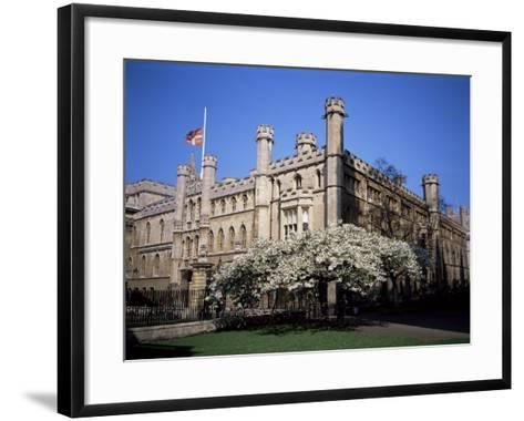 Old School Buildings from Kings College, Cambridge, Cambridgeshire, England, United Kingdom-David Hunter-Framed Art Print