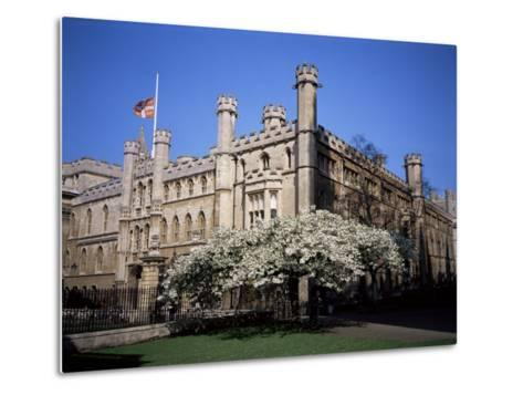Old School Buildings from Kings College, Cambridge, Cambridgeshire, England, United Kingdom-David Hunter-Metal Print