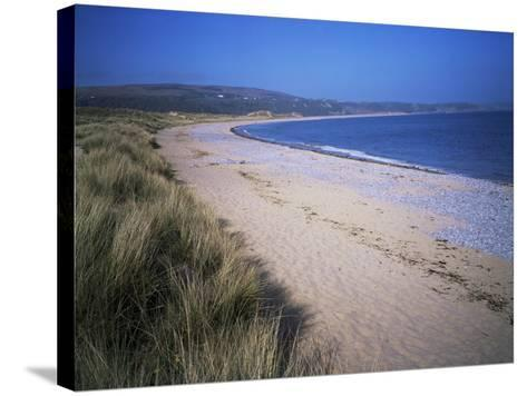 The Beach, Oxwich Bay, Gower, Swansea, Wales, United Kingdom-David Hunter-Stretched Canvas Print