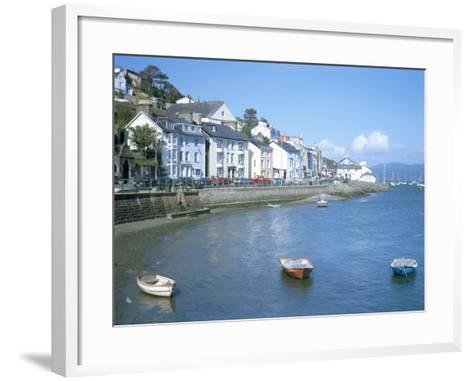 Dovey Estuary and Town, Aberdovey, Gwynedd, Wales, United Kingdom-David Hunter-Framed Art Print