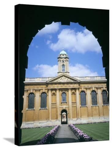 Queens College, Oxford, Oxfordshire, England, United Kingdom-David Hunter-Stretched Canvas Print