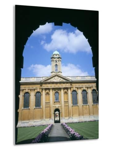 Queens College, Oxford, Oxfordshire, England, United Kingdom-David Hunter-Metal Print