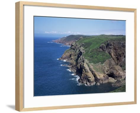 Cliffs Looking East from Near Crabbe of North Coast St. Mary, Jersey, Channel Islands-David Hunter-Framed Art Print