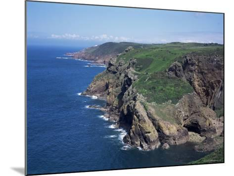 Cliffs Looking East from Near Crabbe of North Coast St. Mary, Jersey, Channel Islands-David Hunter-Mounted Photographic Print