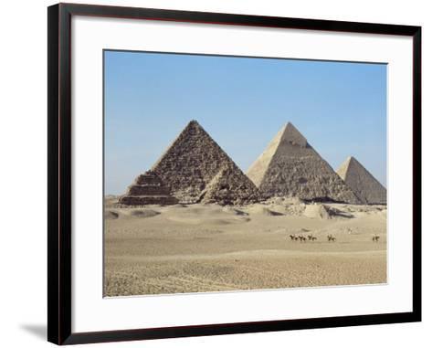 Pyramids at Giza, Unesco World Heritage Site, Near Cairo, Egypt, North Africa, Africa-John Ross-Framed Art Print