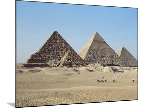 Pyramids at Giza, Unesco World Heritage Site, Near Cairo, Egypt, North Africa, Africa-John Ross-Mounted Photographic Print