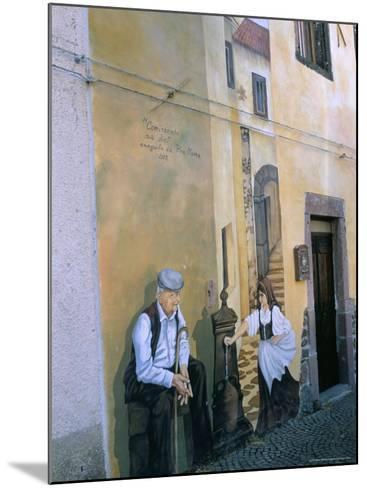 Murals in the Village of Tinura, Bosa Region, Island of Sardinia, Italy, Mediterranean-Bruno Morandi-Mounted Photographic Print