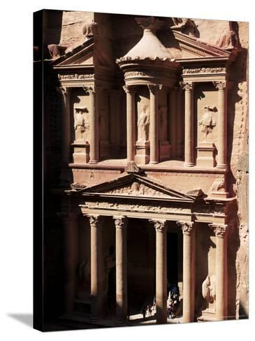 The Treasury (El Khazneh), Petra, Unesco World Heritage Site, Jordan, Middle East-Bruno Morandi-Stretched Canvas Print