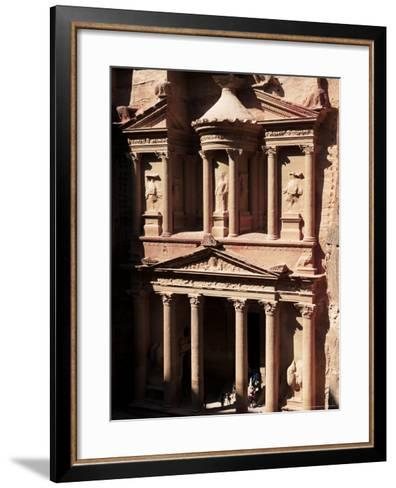 The Treasury (El Khazneh), Petra, Unesco World Heritage Site, Jordan, Middle East-Bruno Morandi-Framed Art Print