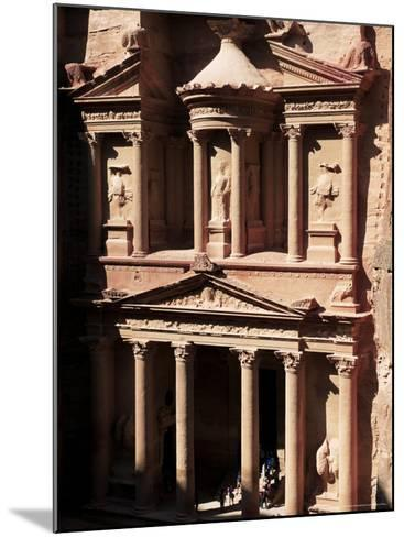 The Treasury (El Khazneh), Petra, Unesco World Heritage Site, Jordan, Middle East-Bruno Morandi-Mounted Photographic Print