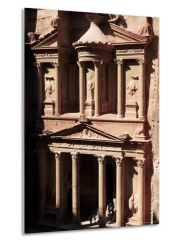 The Treasury (El Khazneh), Petra, Unesco World Heritage Site, Jordan, Middle East-Bruno Morandi-Metal Print