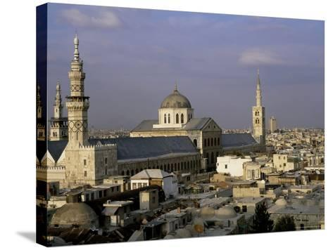 City Skyline Including Omayyad Mosque and Souk, Unesco World Heritage Site, Damascus, Syria-Bruno Morandi-Stretched Canvas Print