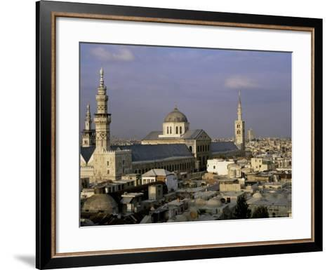 City Skyline Including Omayyad Mosque and Souk, Unesco World Heritage Site, Damascus, Syria-Bruno Morandi-Framed Art Print