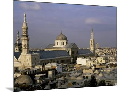 City Skyline Including Omayyad Mosque and Souk, Unesco World Heritage Site, Damascus, Syria-Bruno Morandi-Mounted Photographic Print
