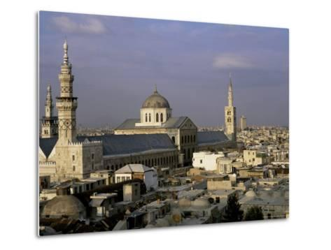 City Skyline Including Omayyad Mosque and Souk, Unesco World Heritage Site, Damascus, Syria-Bruno Morandi-Metal Print