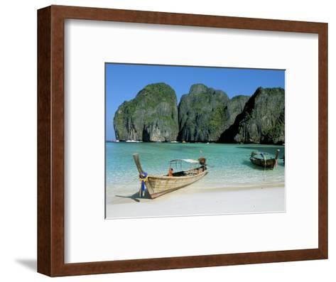 Ao Maya, Phi Phi Le, Ko Phi Phi, Krabi Province, Thailand, Southeast Asia-Bruno Morandi-Framed Art Print