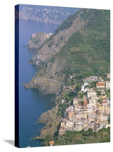 View Over Village of Riomaggiore, Cinque Terre, Unesco World Heritage Site, Liguria, Italy-Bruno Morandi-Stretched Canvas Print