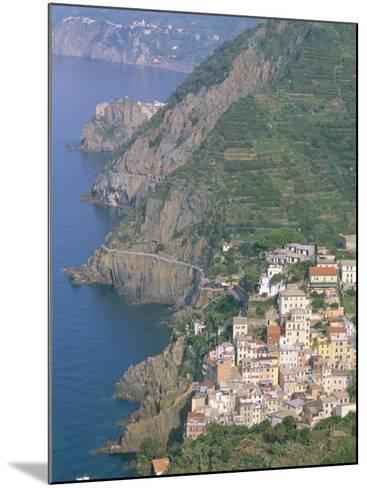 View Over Village of Riomaggiore, Cinque Terre, Unesco World Heritage Site, Liguria, Italy-Bruno Morandi-Mounted Photographic Print