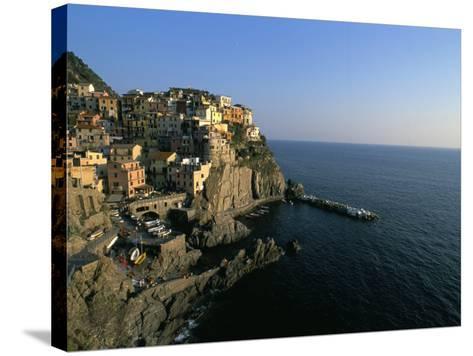 Village of Manarola, Cinque Terre, Unesco World Heritage Site, Liguria, Italy, Mediterranean-Bruno Morandi-Stretched Canvas Print