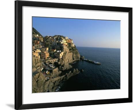Village of Manarola, Cinque Terre, Unesco World Heritage Site, Liguria, Italy, Mediterranean-Bruno Morandi-Framed Art Print