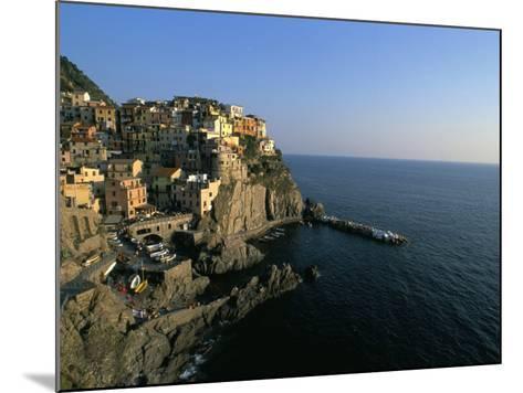 Village of Manarola, Cinque Terre, Unesco World Heritage Site, Liguria, Italy, Mediterranean-Bruno Morandi-Mounted Photographic Print