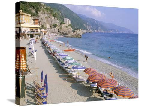 Fegina Beach, Cinque Terre, Liguria, Italy-Bruno Morandi-Stretched Canvas Print