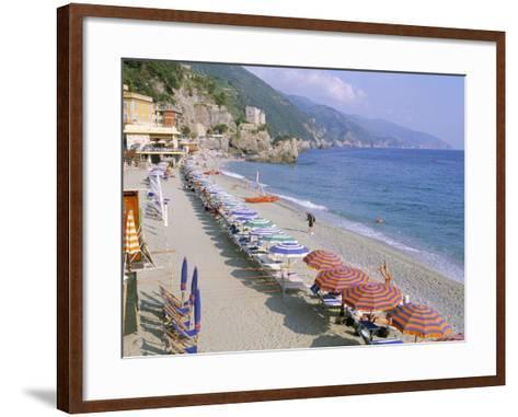Fegina Beach, Cinque Terre, Liguria, Italy-Bruno Morandi-Framed Art Print