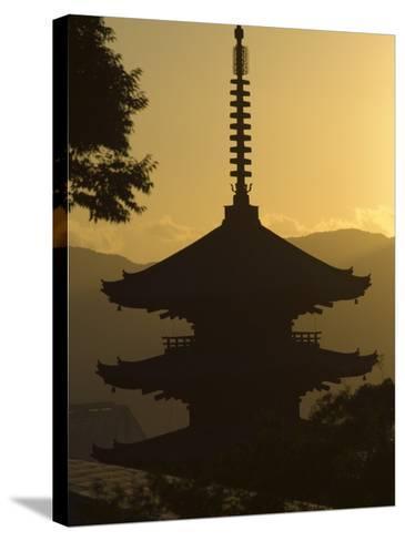 Yasaka No to Pagoda, Higashiyama, Eastern Hills, Sunset, Kyoto, Japan-Christian Kober-Stretched Canvas Print