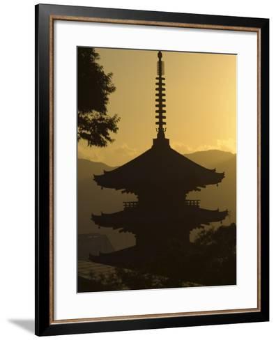 Yasaka No to Pagoda, Higashiyama, Eastern Hills, Sunset, Kyoto, Japan-Christian Kober-Framed Art Print