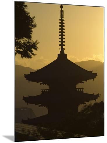 Yasaka No to Pagoda, Higashiyama, Eastern Hills, Sunset, Kyoto, Japan-Christian Kober-Mounted Photographic Print
